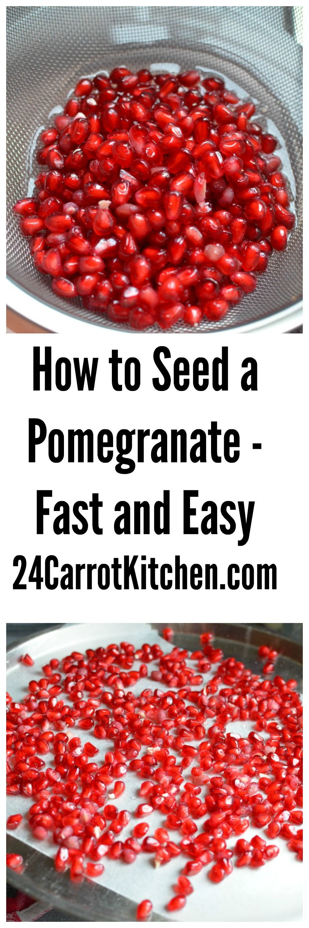 how to get seeds from pomegranate