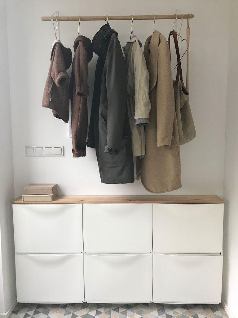 Photo of Eingang hell, freundlich und natürlich gestalten! Ikea Hack Schuhschrank !