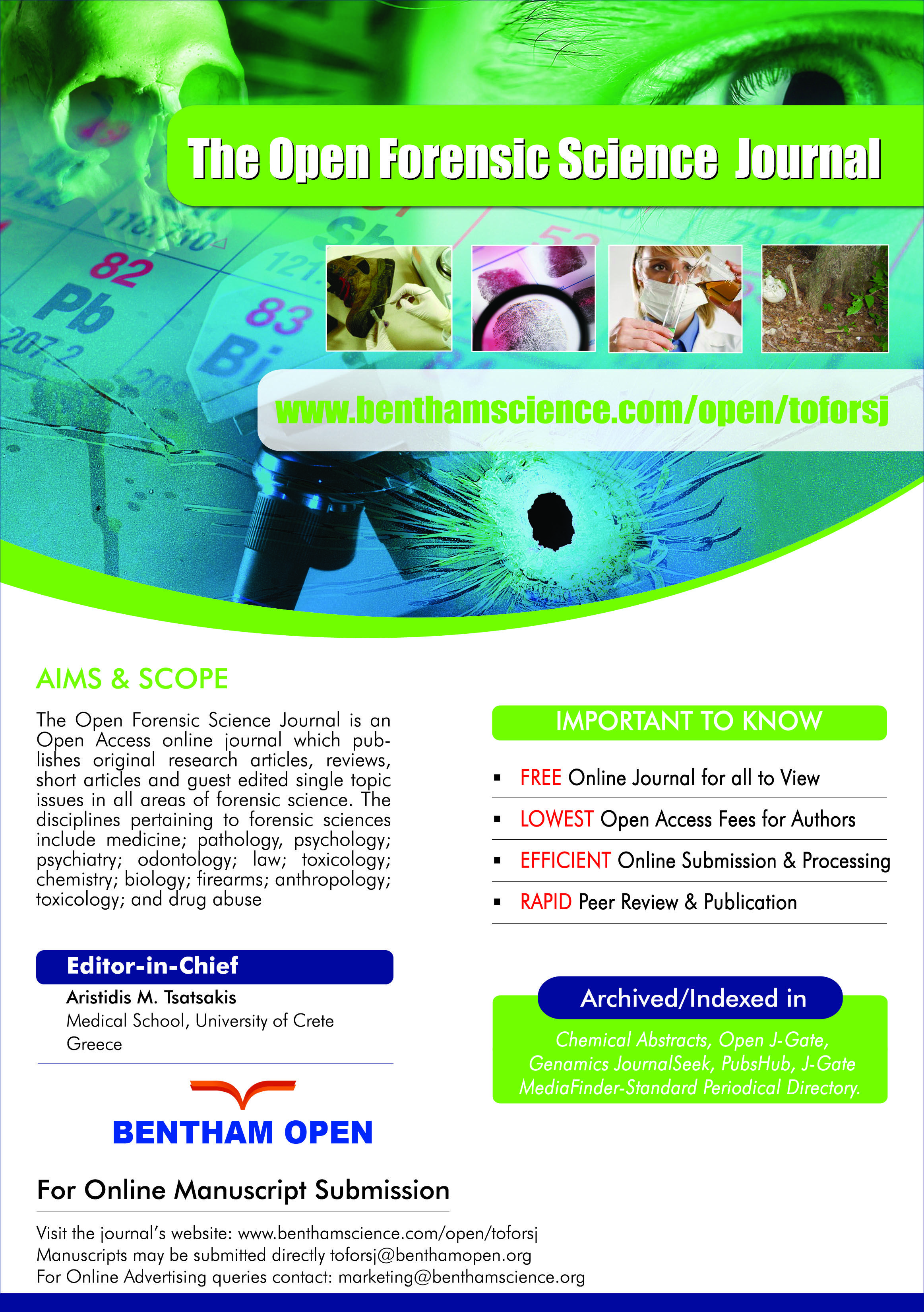 The Open Forensic Science Journal The Open Forensic Science Journal Is An Open Access Online Journal Which Publishes Science Journal Forensics Online Journal