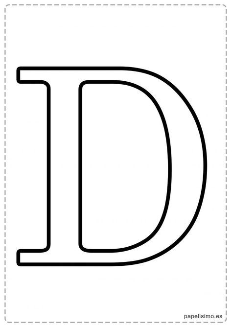 Letras Grandes Para Imprimir Letras Para Recortar Abecedario