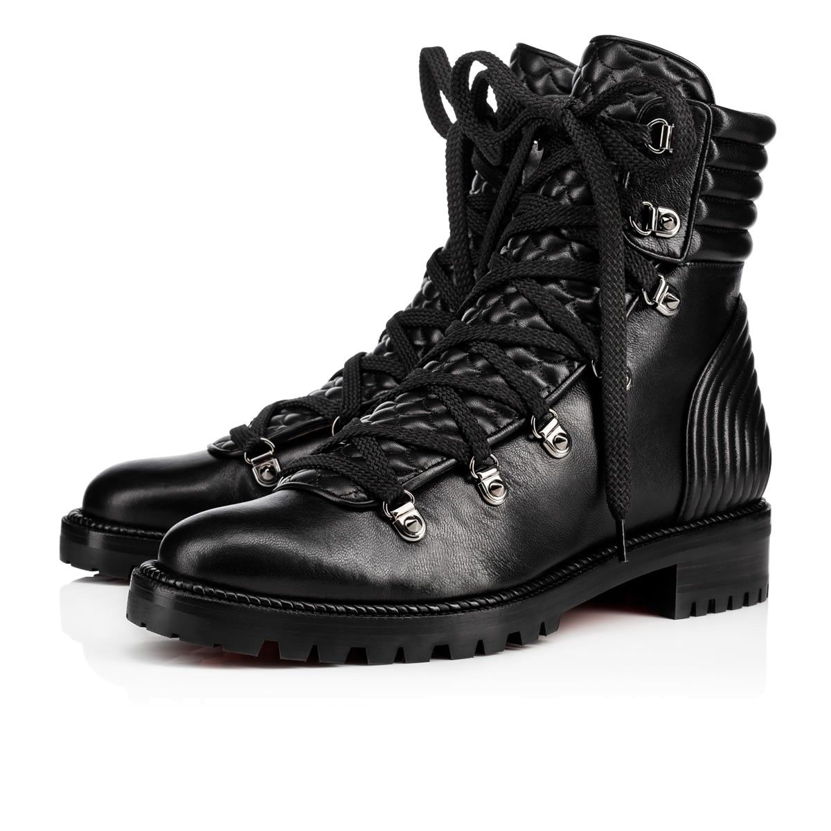brand new f84d8 23eb5 CHRISTIAN LOUBOUTIN Mad Boot Flat Black Leather - Women ...