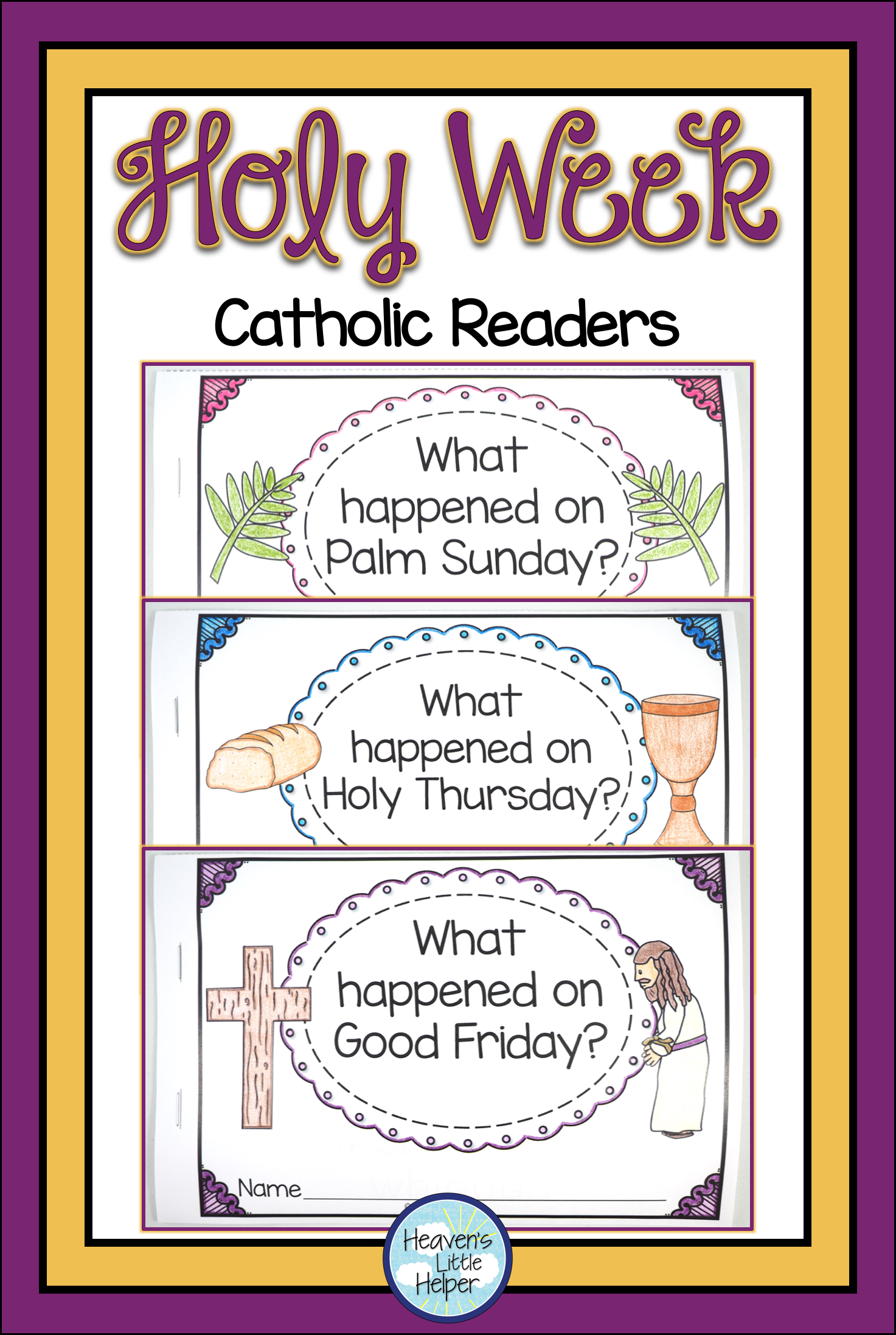 It is a photo of Satisfactory Holy Week Activities Printable