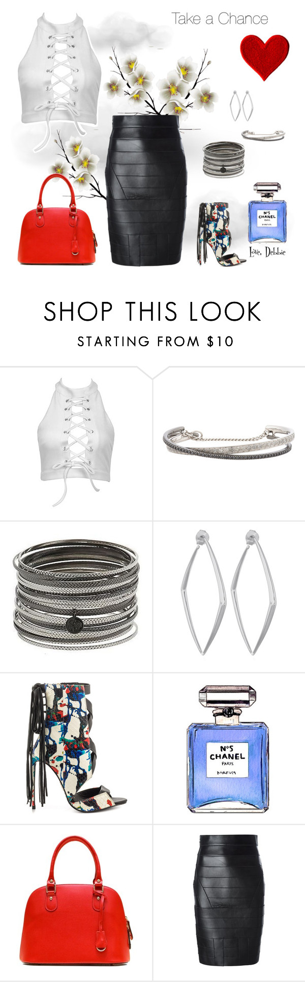 """""""Take a Chance"""" by debbie-michailides ❤ liked on Polyvore featuring Roberto Marroni, Susan Graver, Dinny Hall, Lust For Life, Chanel and Dsquared2"""