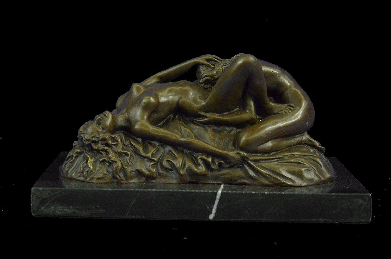 Hand Made Bronze Erotic Sculpture Sexy Nude Woman Veil