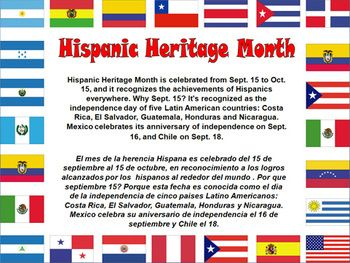 This Zip Files Contains 2 Hispanic Heritage Month Posters One In Color And