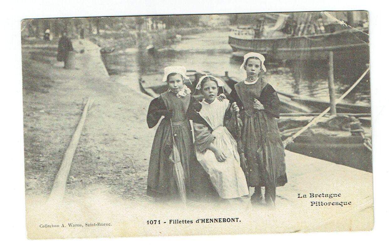 CPA Bretagne - Morbihan - Fillettes d'Hennebont - Waron Saint Brieuc 1071 | eBay