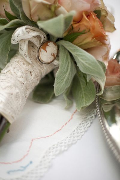 Britt Chudleigh, Photographer - Chudleigh Weddings  love the vintage broach on bouquet