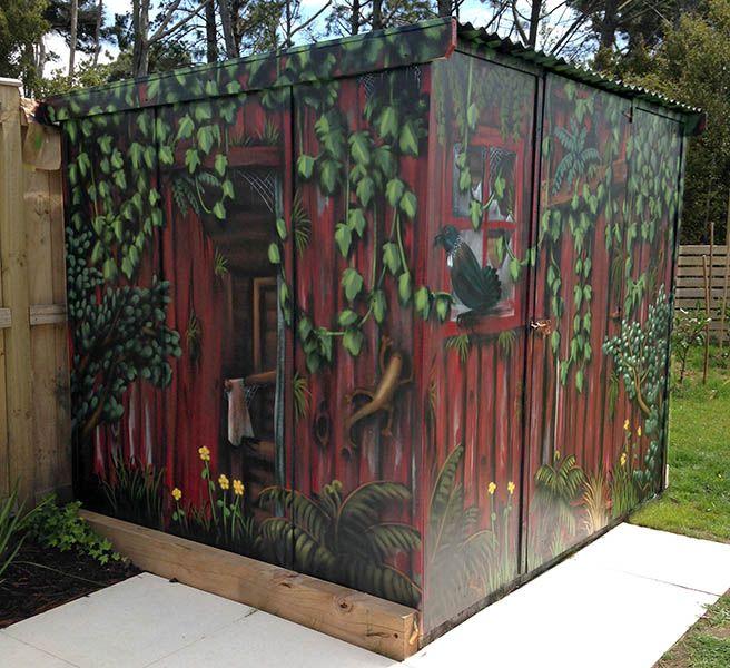 garden shed mural Pinteres