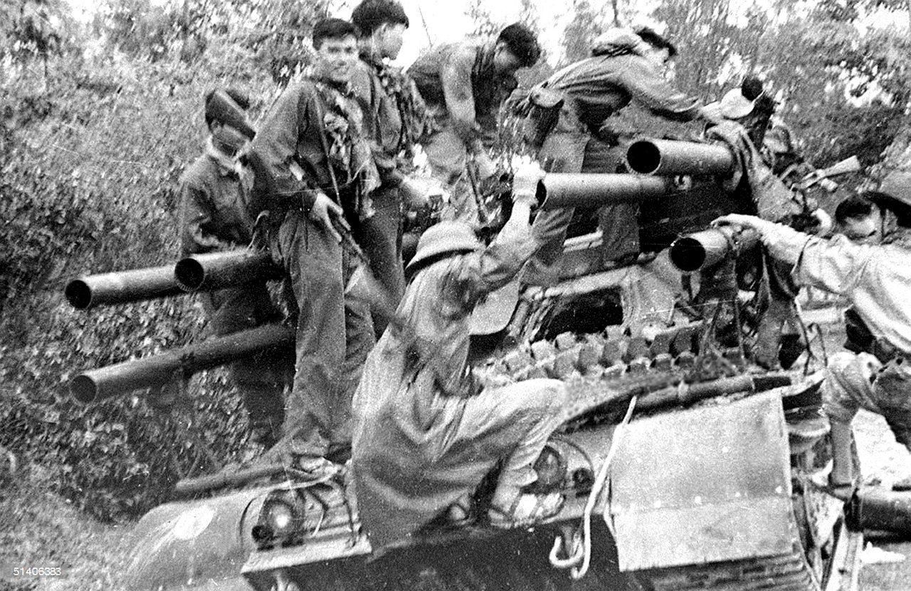 004 ARVN M50 Ontos captured by NVA. World war one, World war