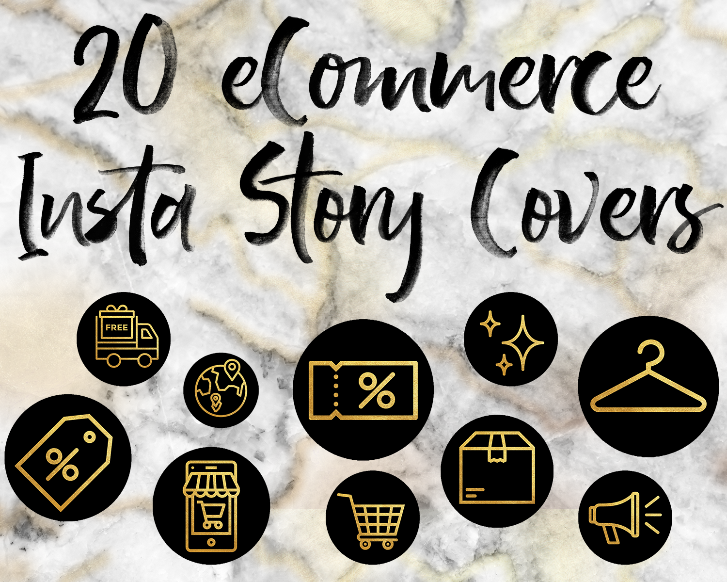 Instagram Icons Business Insta Story Covers Instagram Highlights E Commerce Brand Online Shop Branding Kit Gold Foil Instagram Stories Instagram Branding Instagram Icons Etsy Instagram