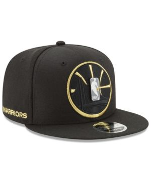New Era Golden State Warriors Playoff Push 9FIFTY Snapback Cap - Black  Adjustable f1b427862ba