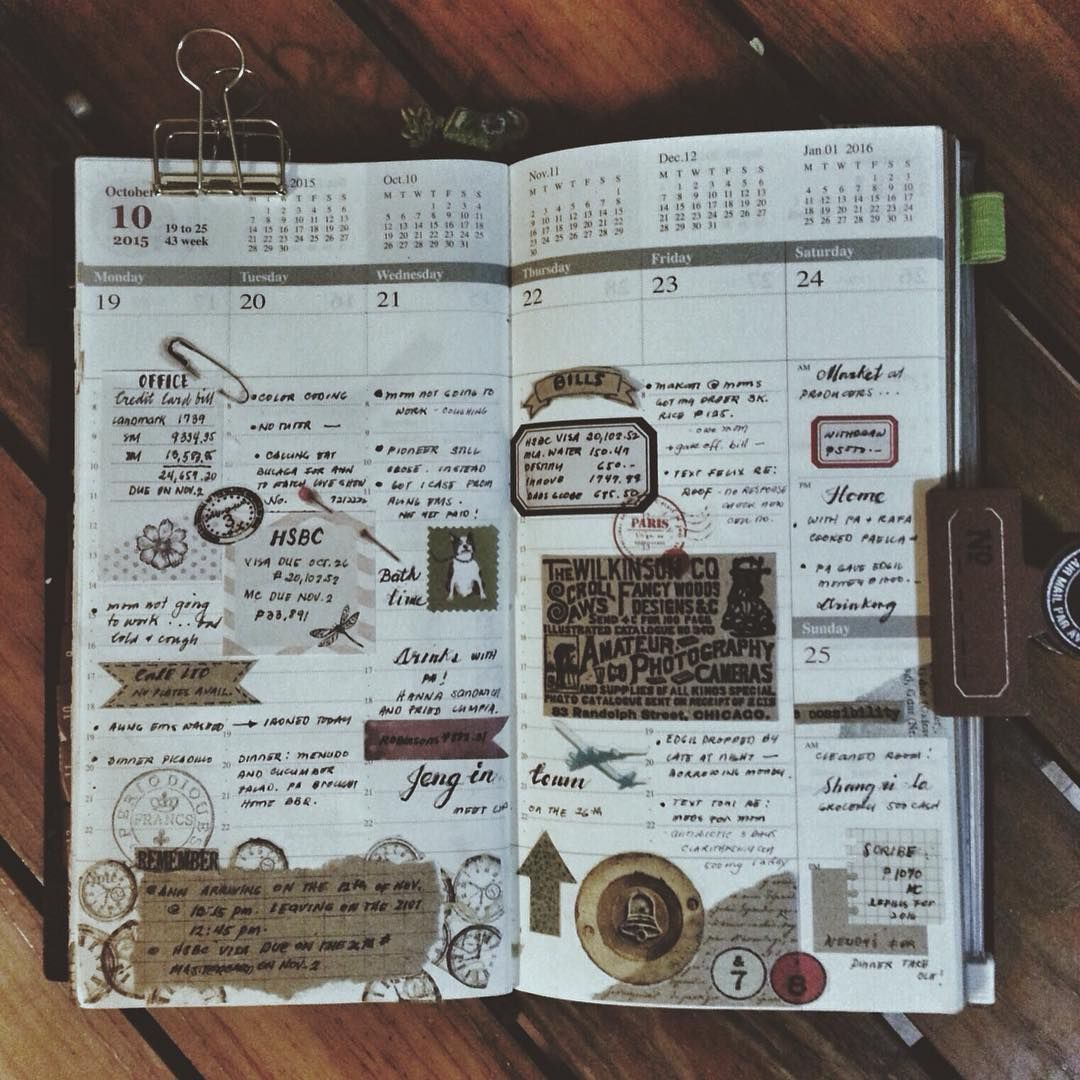 Week 43 #midoritravelersnotebook #travelersnotebook #travelersnote #notebook #planner #plannerph #plannerpages #stationery #agenda #diary #journal