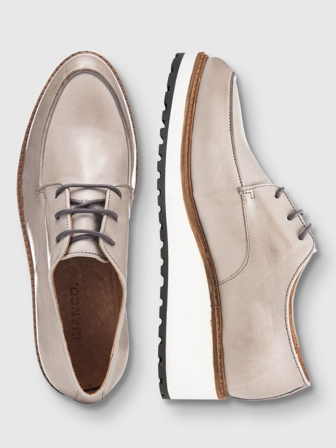 1ff4c70c780 INN. WEDGE LACED UP DERBY SHOES, Grey, large | Loafers休闲鞋 | Shoes ...