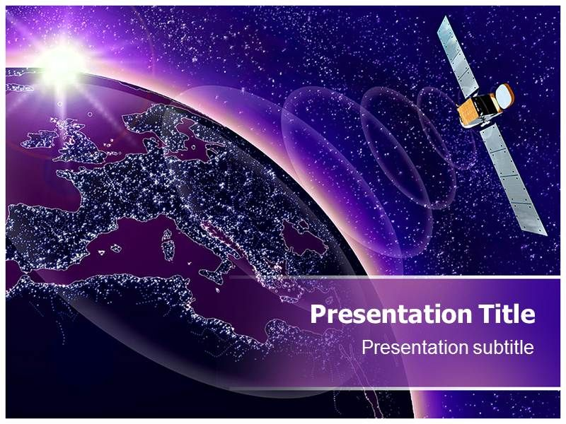 Free Powerpoint Templates Satellite Communication Free Powerpoint