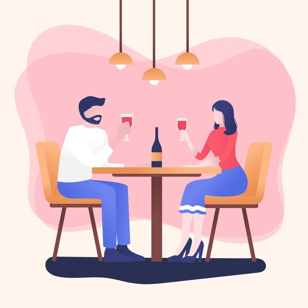 People Eating At Restaurant Vector Coffee Artwork People Illustration Calender Design