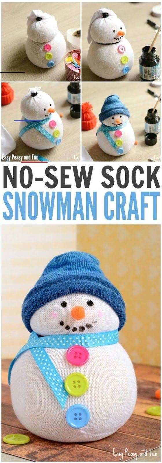 No-Sew Sock Snowman Craft - Easy Peasy and Fun No-Sew Sock Snowman Craft - Easy ...