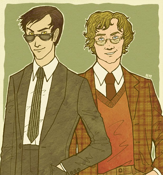cactusrabbit: Crowley and Aziraphale by Velven Slightly (or not so