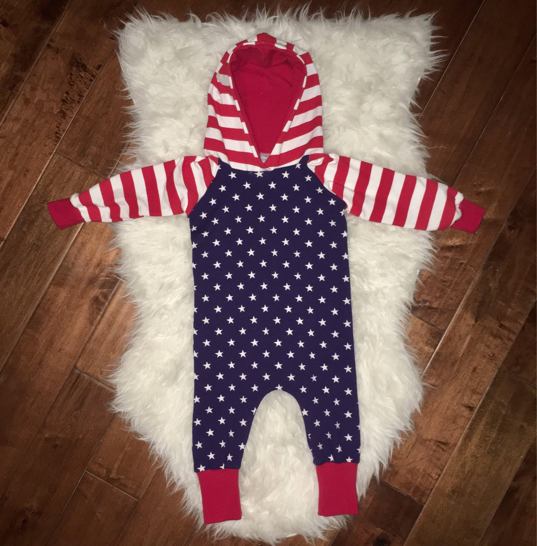 522c982151d USA BABY ROMPER  patriotic baby onsies