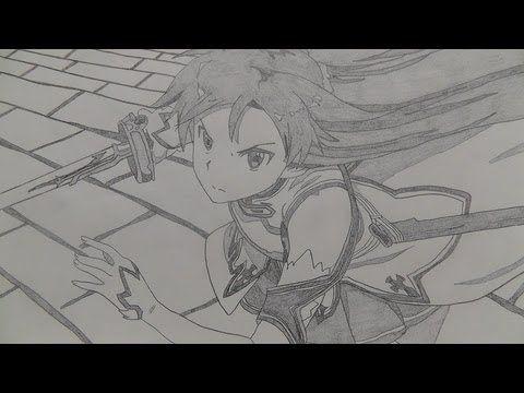 Sword Art Online Hand Drawn Anime Opening Sword Drawing Sword Art Online Sword Art