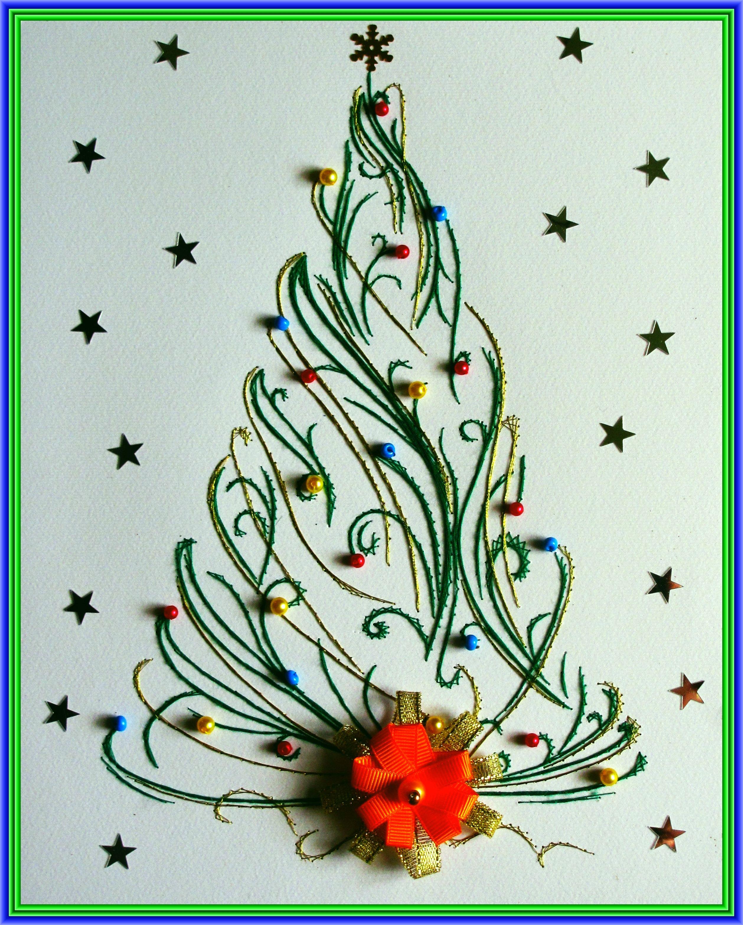 выполнено открытки в виде елочки на новый год нужно