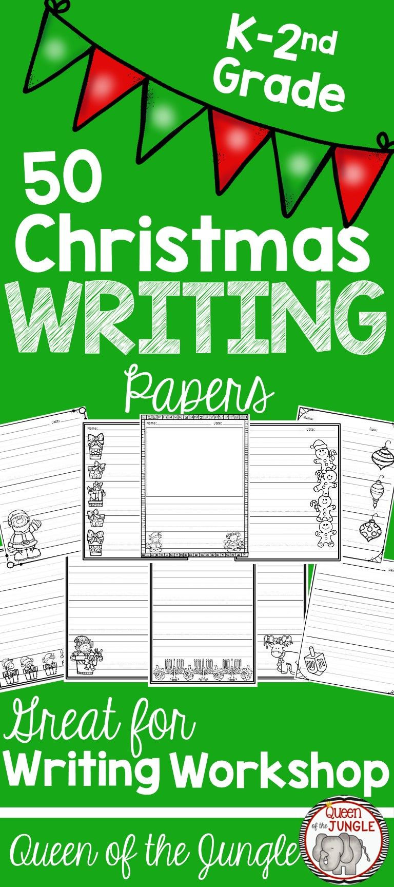 Christmas Writing Pages Great For Writer S Work Or Stations K 2nd Grade