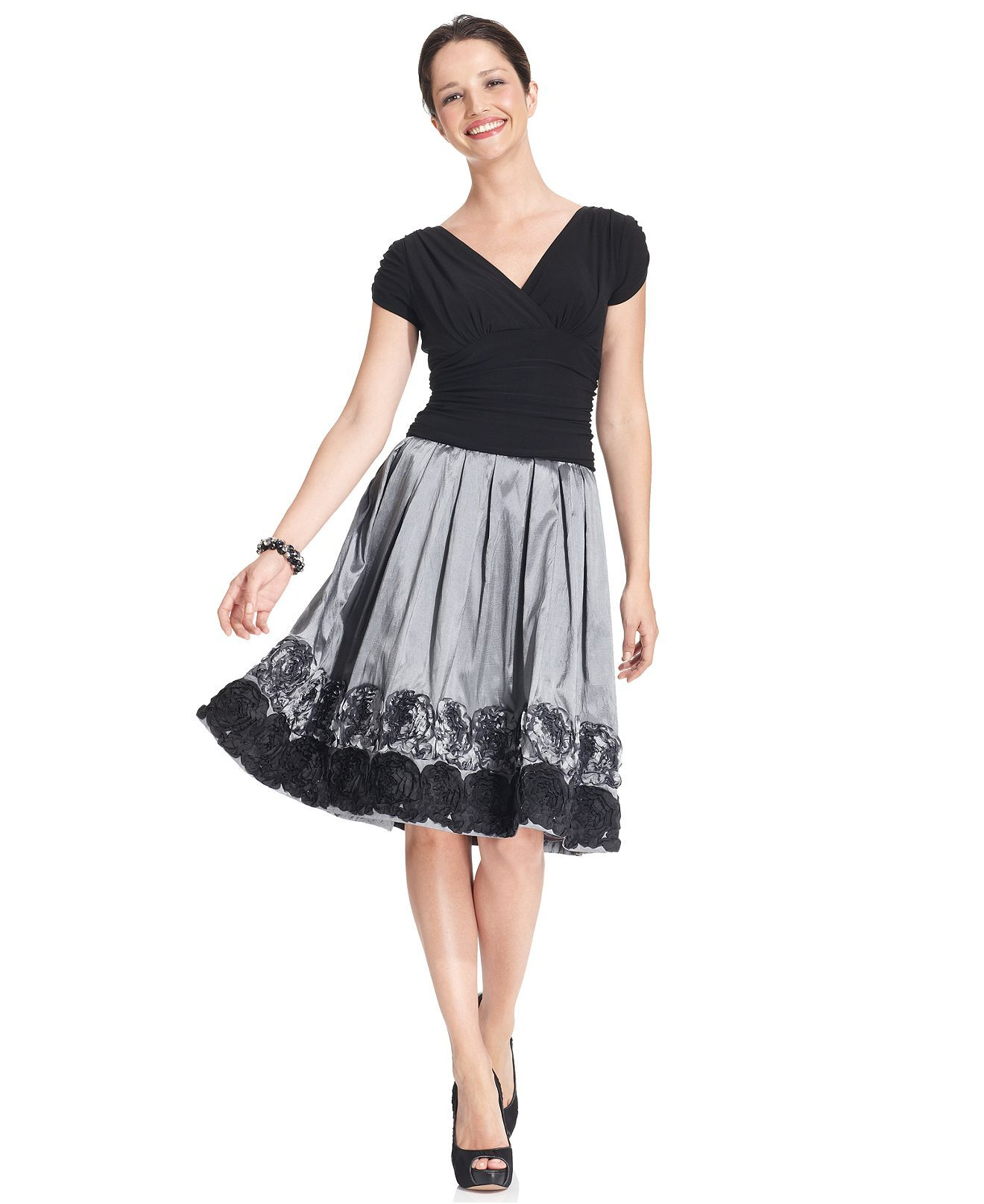 Wedding dresses at macy's  SL Fashions Dress ShortSleeve Ruched ALine  Womens Mother of the
