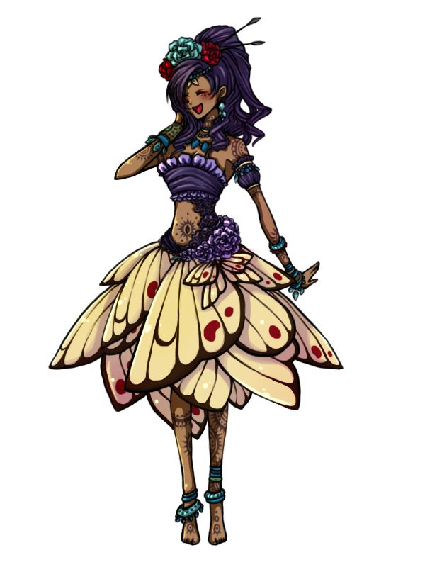 Pokémon Gijinka. I love this one its soo pretty even though I have no idea which pokemon its suppose to be