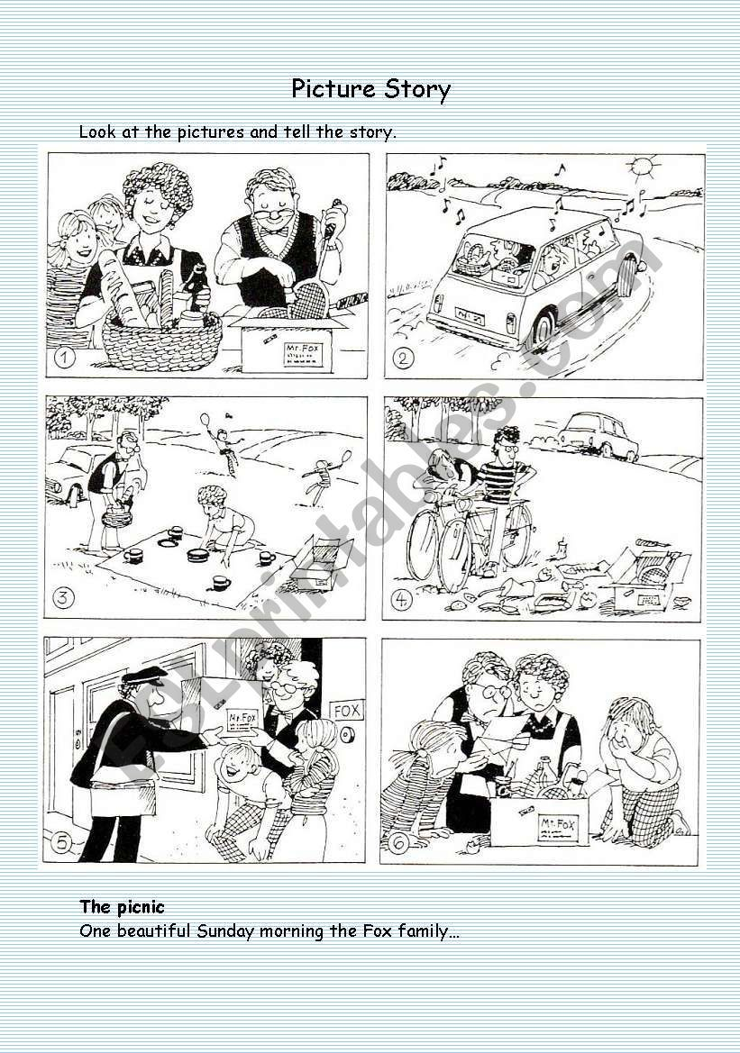 Picture Story Worksheet Picture Story Writing Picture Writing Prompts Story Sequencing Pictures [ 1169 x 821 Pixel ]