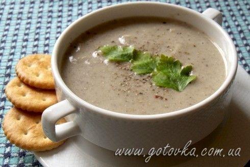 Грибной суп пюре без молока