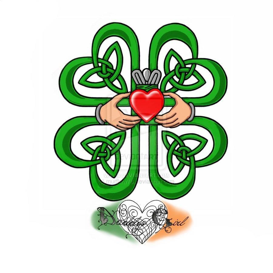 Celtic Four Leaf Clover By Murflaw | Tattoo ideas | Pinterest