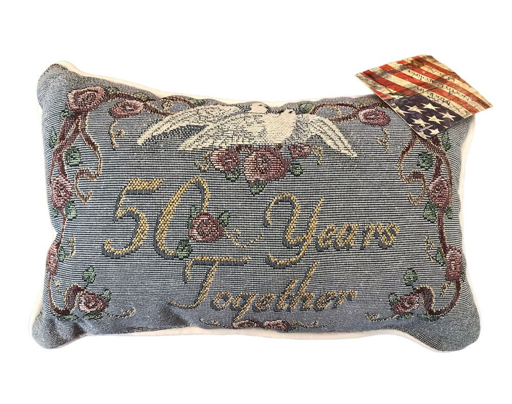 50 years together pillow 50th anniversary gift made in usa