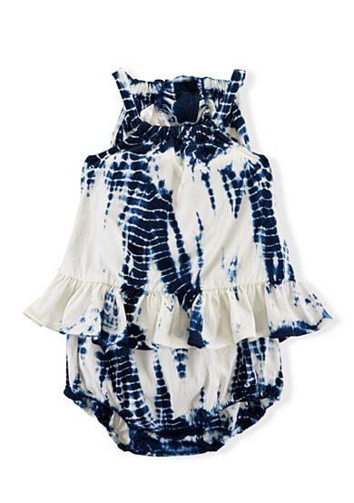 0fd2aa580c4e Ralph Lauren Childrenswear Ruffle Tie Dye Shortall Girls 3-24 Months  33.75