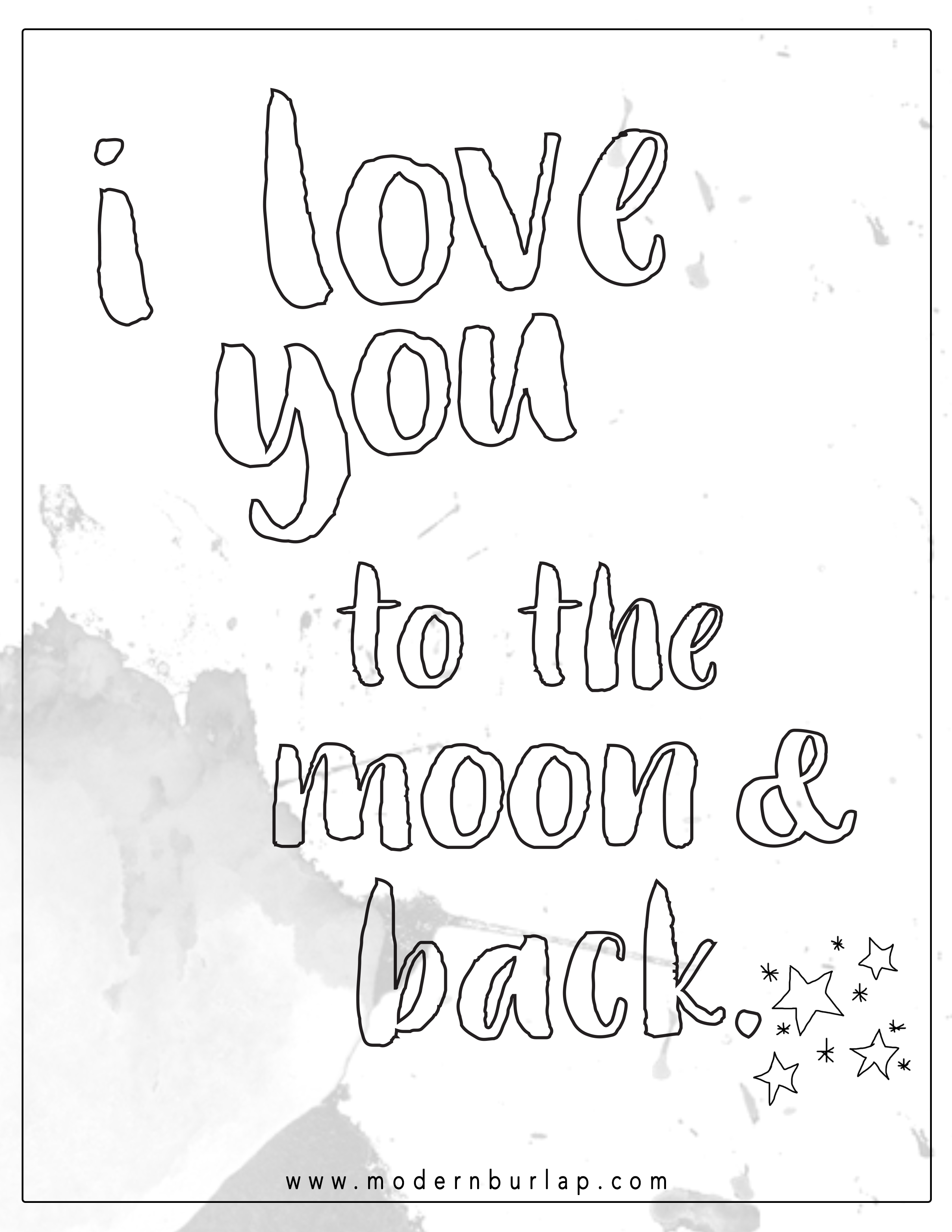 I Love You To The Moon And Back Printable Love You My Love Love