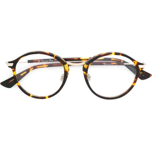 8e658b9c696c Dior Eyewear round frame tortoiseshell glasses ( 425) ❤ liked on Polyvore  featuring accessories