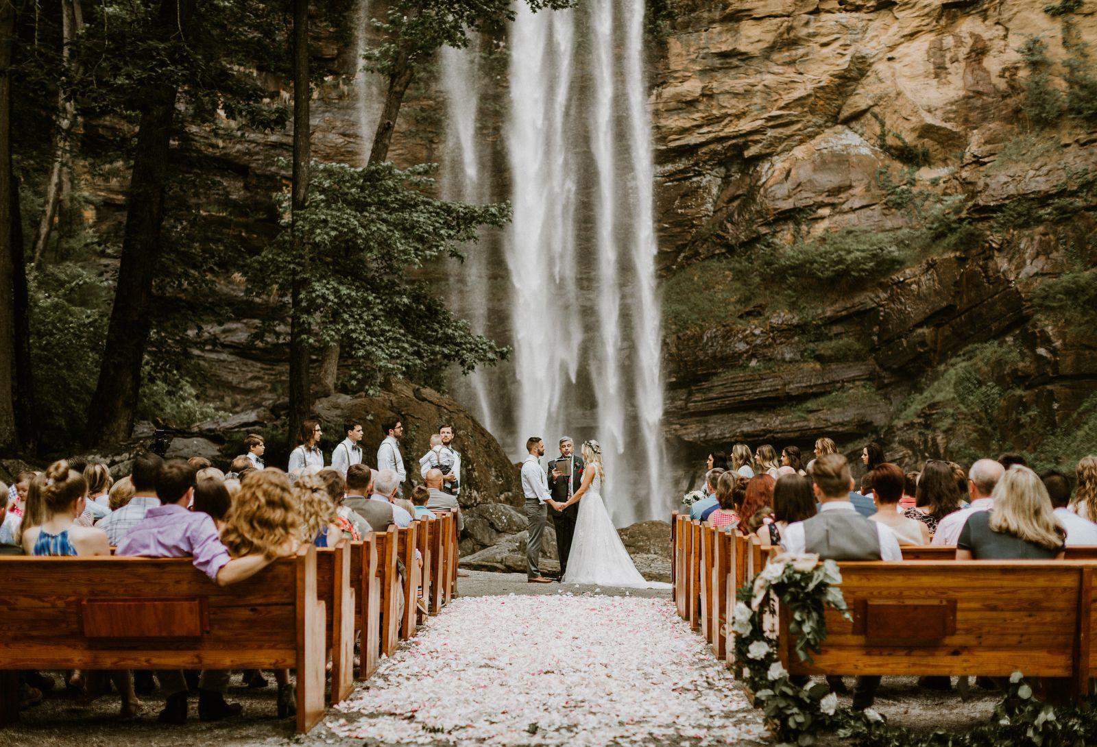 Incredible Waterfall Wedding in Toccoa, GA Waterfall