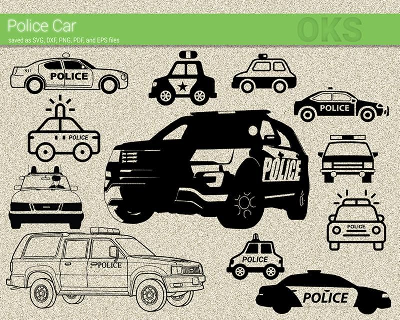 Free Police Car Svg Dxf Vector Eps Clipart Cricut Download Svg Cricut Police Cars