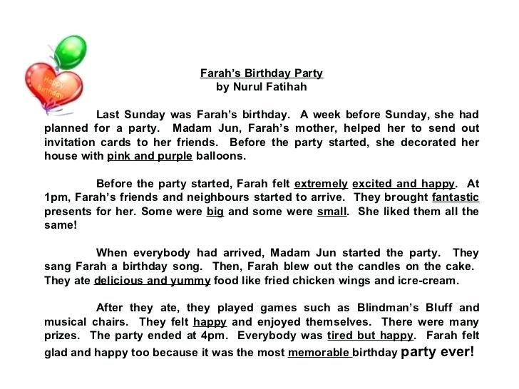 Fine Happy Birthday Paragraph Photo Update And Party My Best Friend S Essay 10 Line On For Clas 2 In Hindi Grade 5