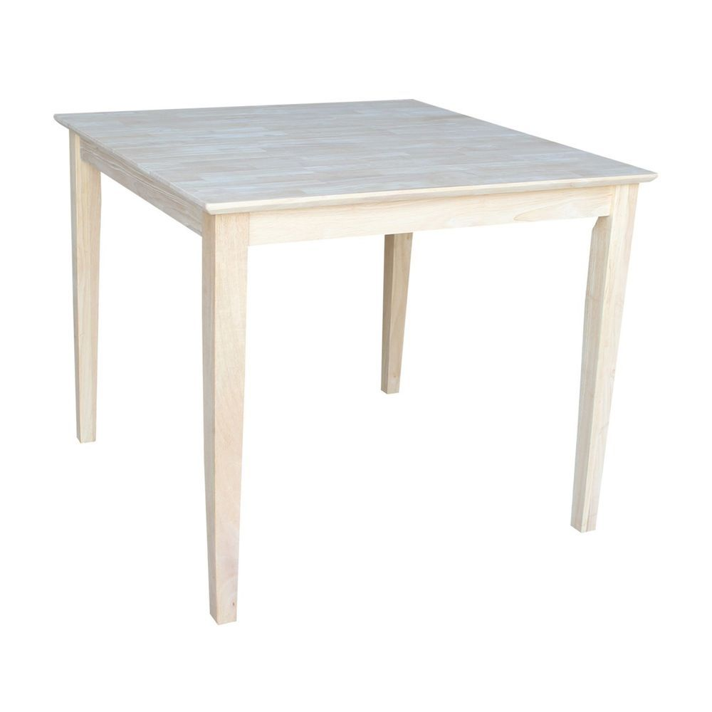 International Concepts Square Counter Height Solid Wood Top Table With Shaker Legs 30 Dining Table In Kitchen Solid Wood Dining Table Counter Height Pub Table
