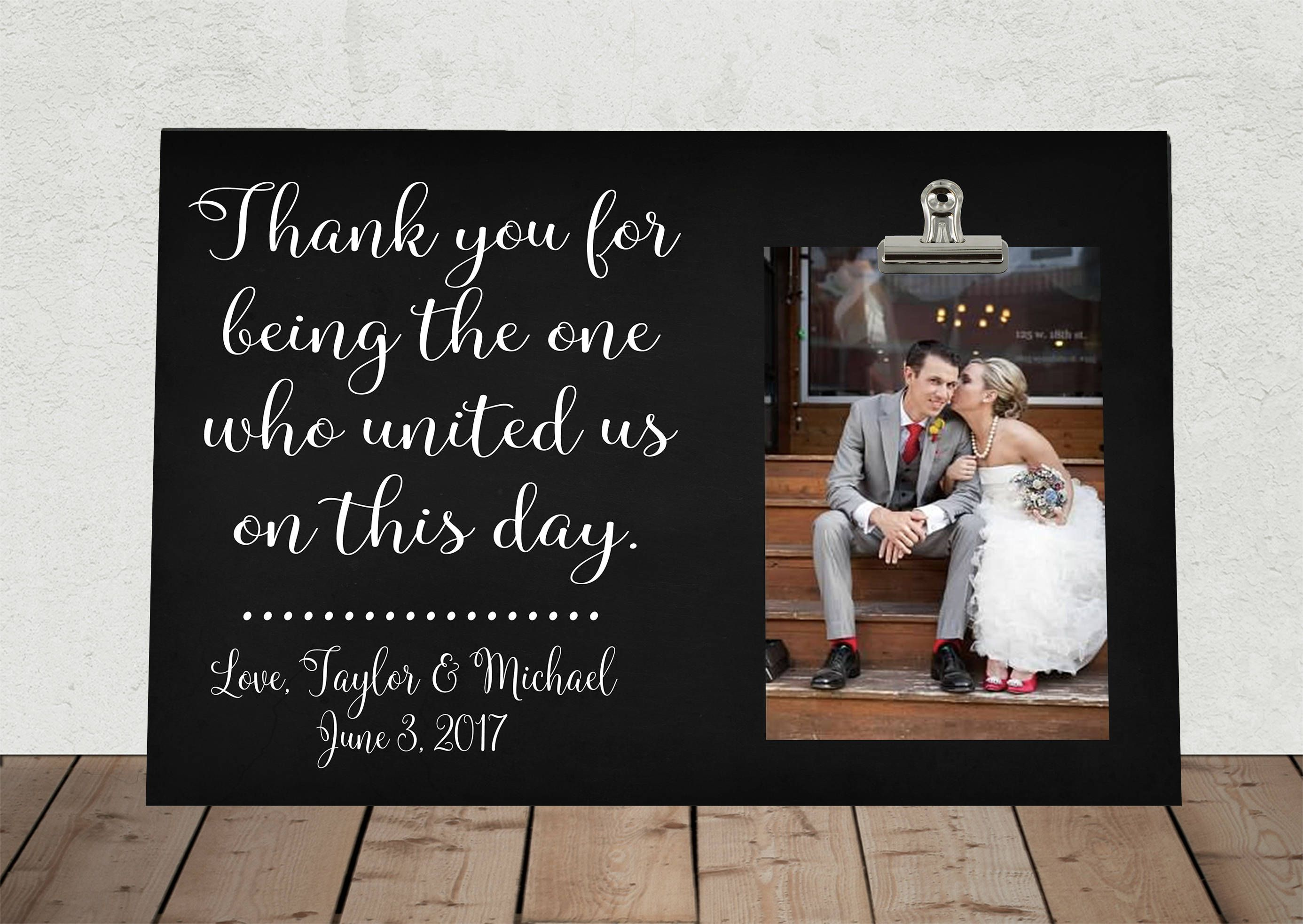 THANK YOU gift for Wedding Officiant, Christmas Gift