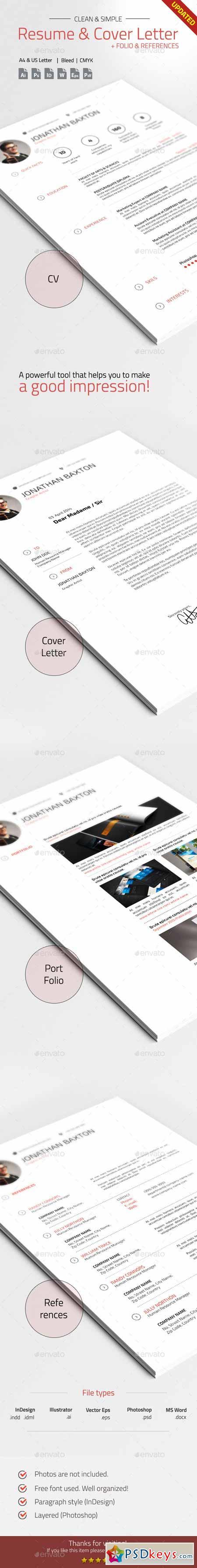 Clean Simple Resume Cv 7398472 Brushes Vectors Pinterest