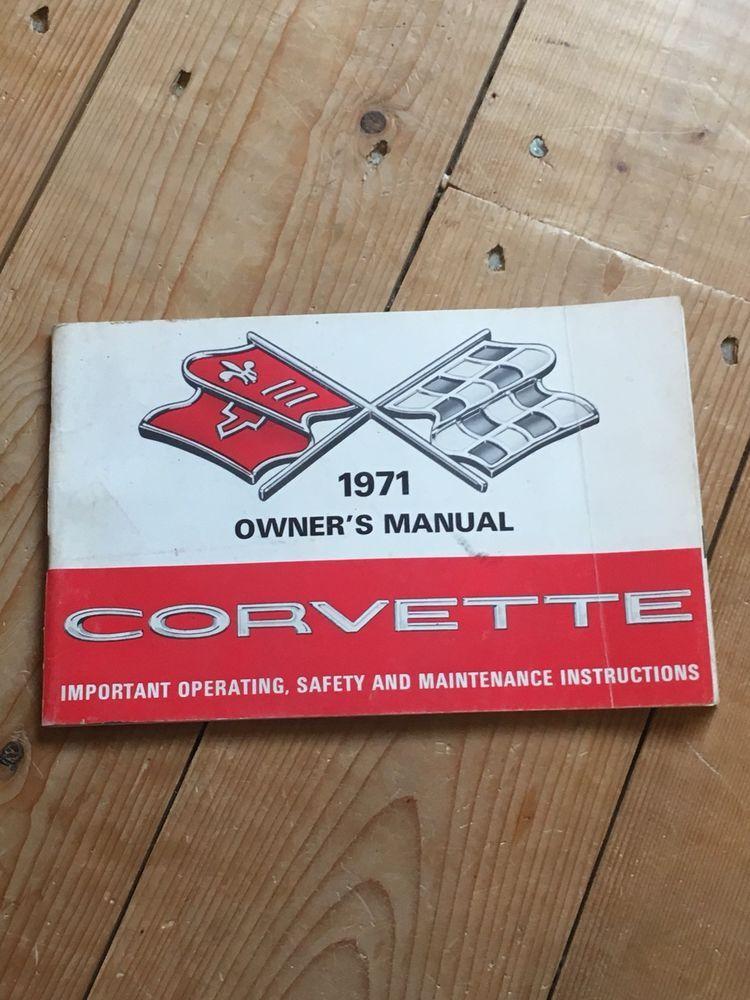 1971 Chevrolet Corvette Owner/'s Manual