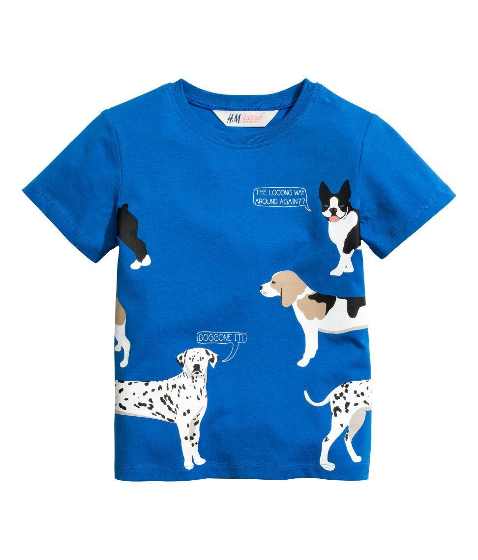 Shirt design boy 2016 - T Shirt With Printed Design H M Kids