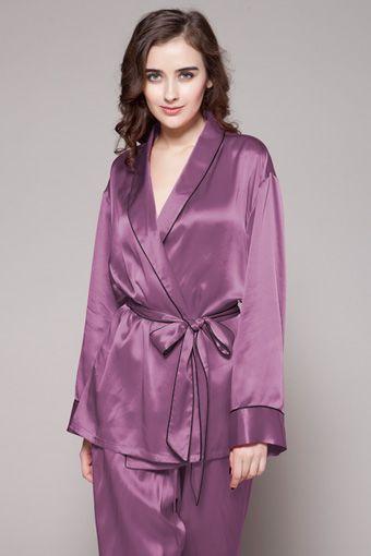 Contrast Trim #Silk #Pajamas #Set   lilysilk.com