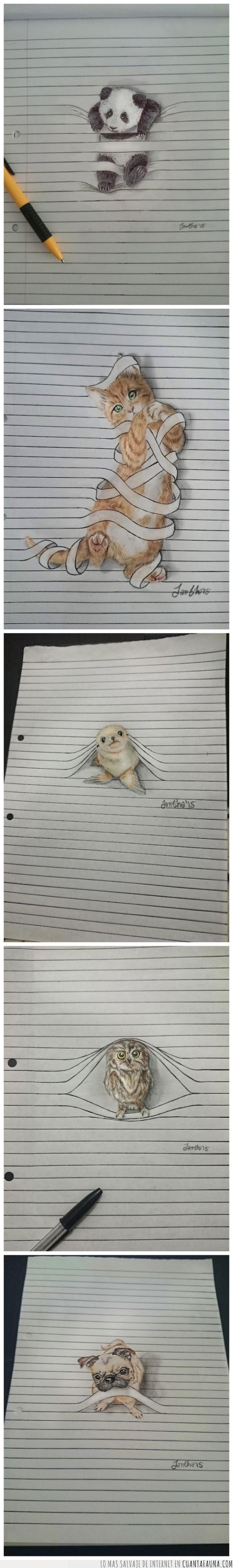 31990 - Animales que salen del papel para verte a ti