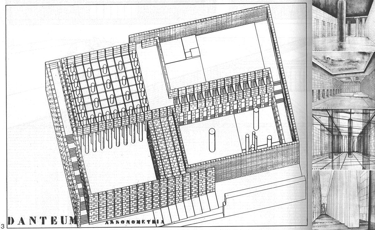 The Danteum Giuseppe Terragni Futurism Architecture Parthenon Architecture Modernist Architects