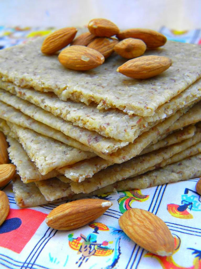 Almond oat groat flatbread or crackersi have never made