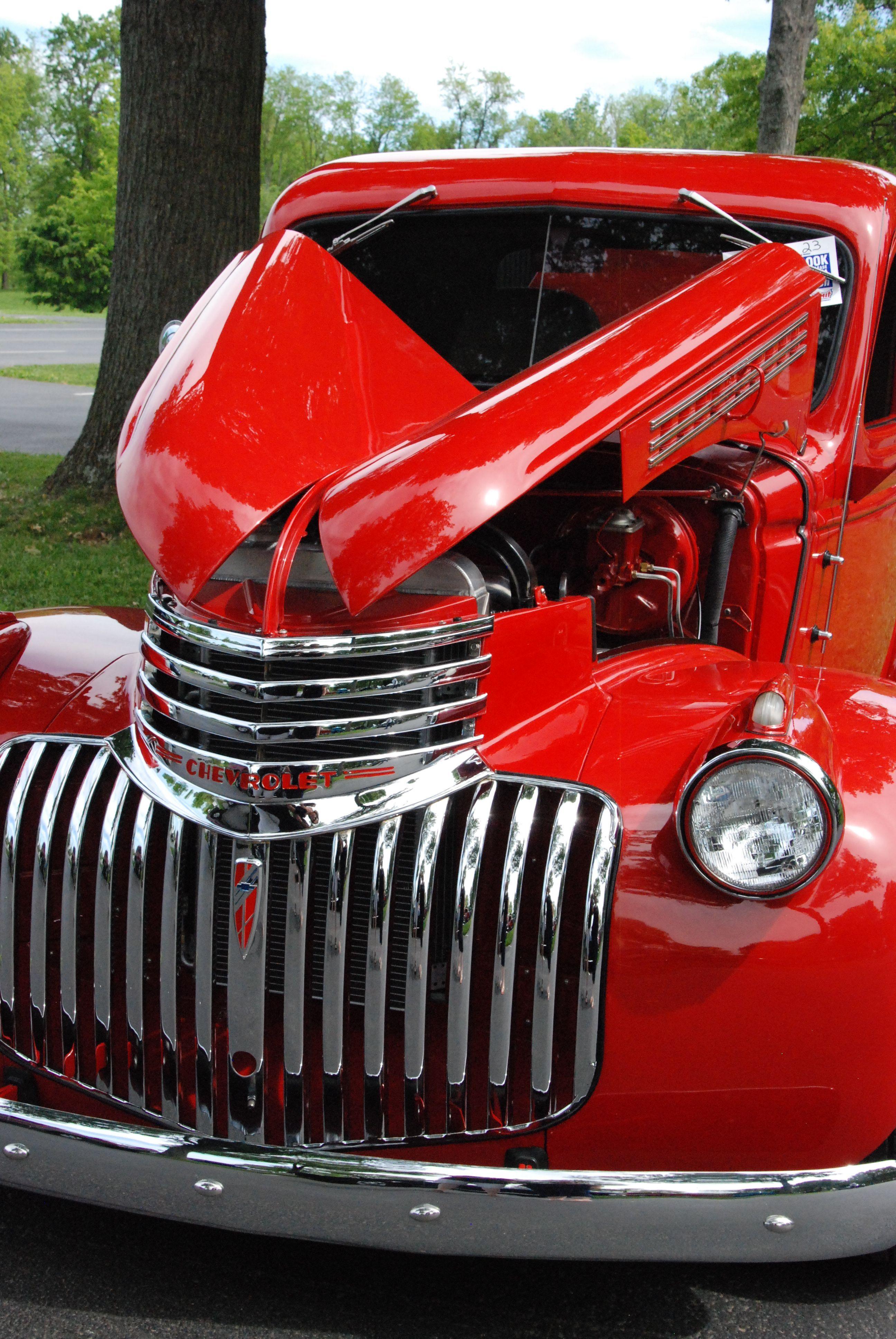Classic red Chevy truck by Matt Jury in 2020 Classic