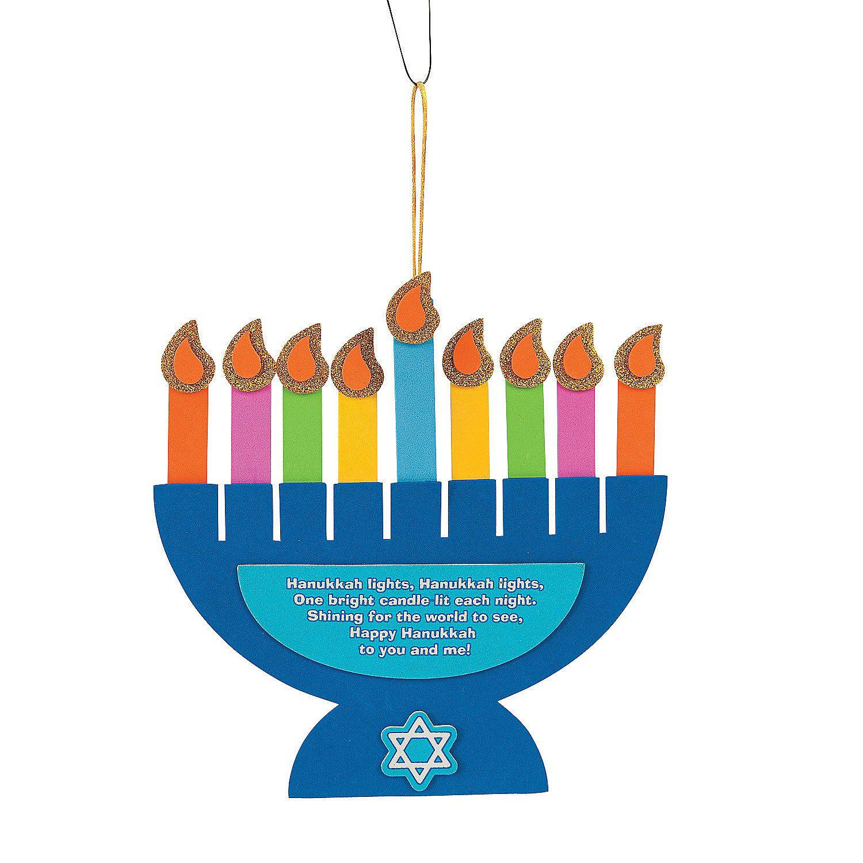 Hanukkah Lights Menorah Poem Sign Craft Kit