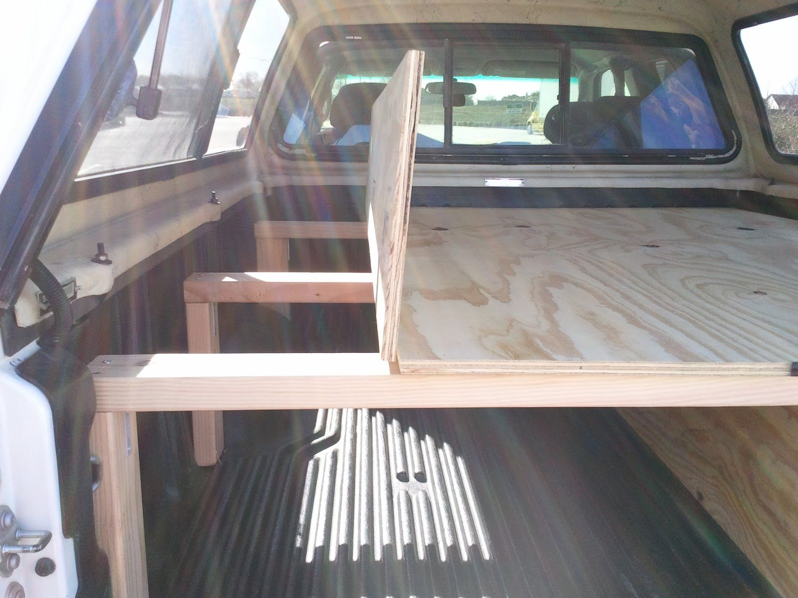 Homemade Camping Truck Bed Storage Sleeping Platform There S