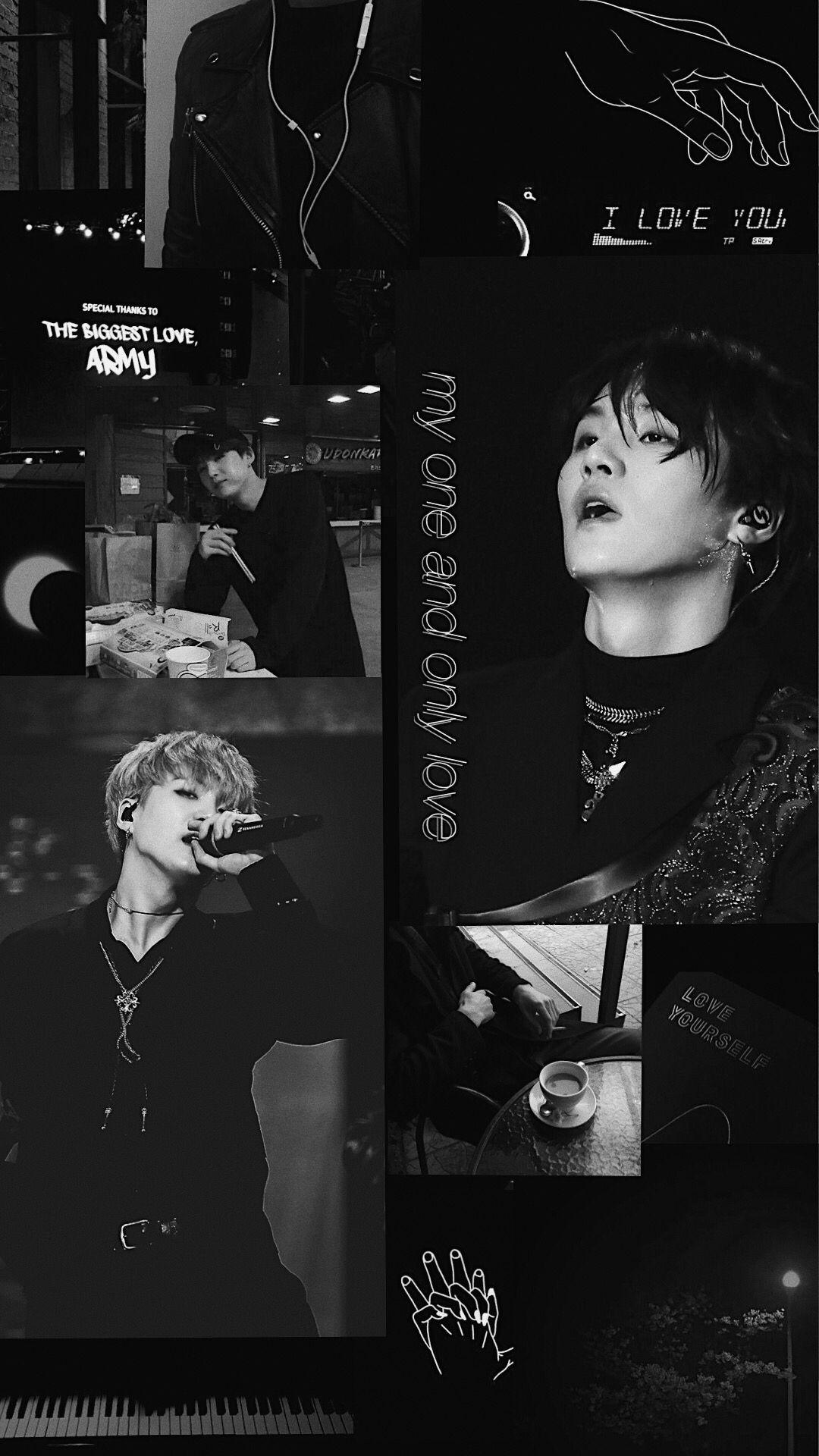 BTS Suga wallpaper dark min yoongi aesthetic black
